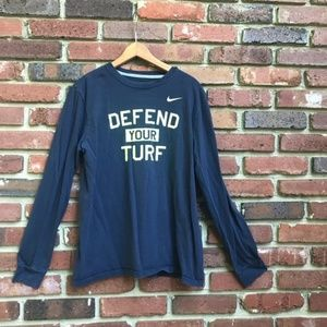 Nike Longsleeve Blue Men's Shirt Defend Your Turf
